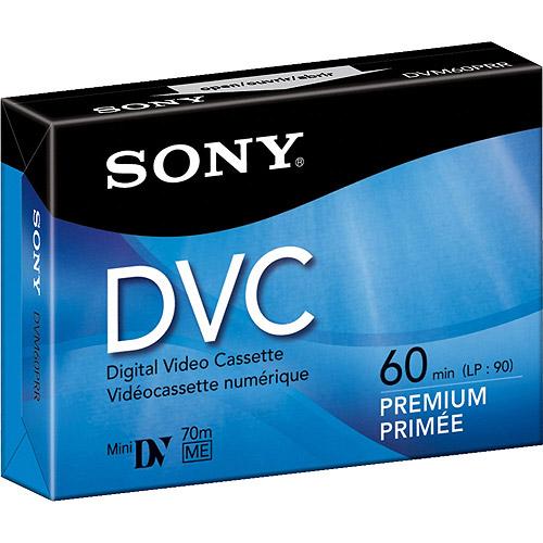 Sony 60-Minute Premium-Grade MiniDV Video Cassette