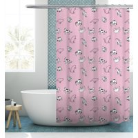 Your Zone Yoga Cat shower curtain 72*72