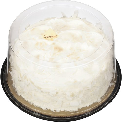 "The Bakery At Walmart 7"" Golden Cake With Coconut Filling,  Buttercreme Icing & Coconut,  34 oz"