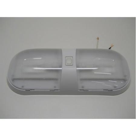 Truck Dome Light (12V Truck Semi Van RV Bus Trailer Utility Dome Light / Double Bulb / Switch)