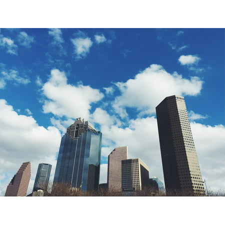 LAMINATED POSTER Towers High Rises Sky Architecture Blue Buildings Poster Print 24 x 36