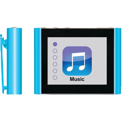 "Eclipse Fit Clip Plus 8GB 1.8"" MP3 + Video Player, Blue"