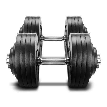 - Yes4All 200 lb Adjustable Dumbbell Weight Set - Cast Iron Dumbbell (a Pair)