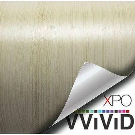 - White Maple Wood Grain Faux Finish Textured Vinyl Sticker Architectural Vinyl Adhesive Tile Wall Decor Decal VViViD