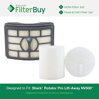 Shark Rotator Pro Lift Away Nv500 Hepa Foam Amp Felt Filter