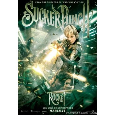 Rocket Punch - Sucker Punch Movie poster rocket Metal Sign 8inx 12in