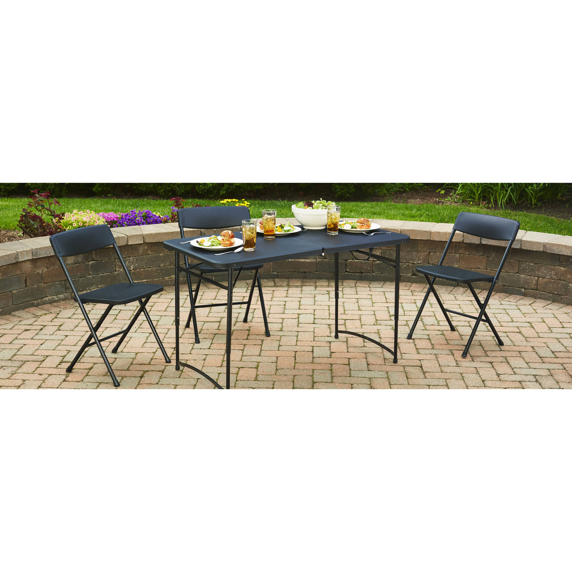 Mainstays 4 Fold In Half Table Black