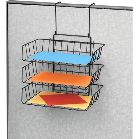 Fellowes, FEL75310, Wire Partition Additions Triple Trays, 1 Each, Black - Fellowes Partition Additions Triple Trays