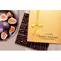 Andy Anand's Dark Chocolate covered Figs 1 lbs,& Handwritten Greeting Card - For Birthday, Gourmet Food Gifts, Thanksgiving, Halloween, Fathers Day, Get Well For Birthday, Anniversary