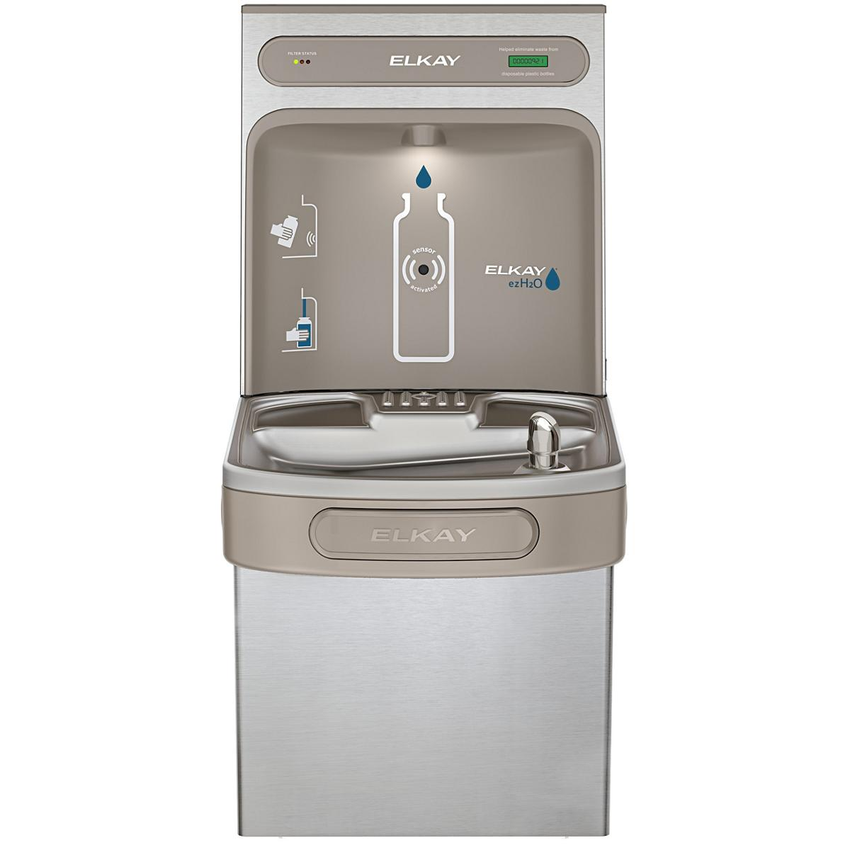 Elkay EZH2O Bottle Filling Station with Single ADA Cooler, Filtered 8 GPH Stainless Stainless Steel