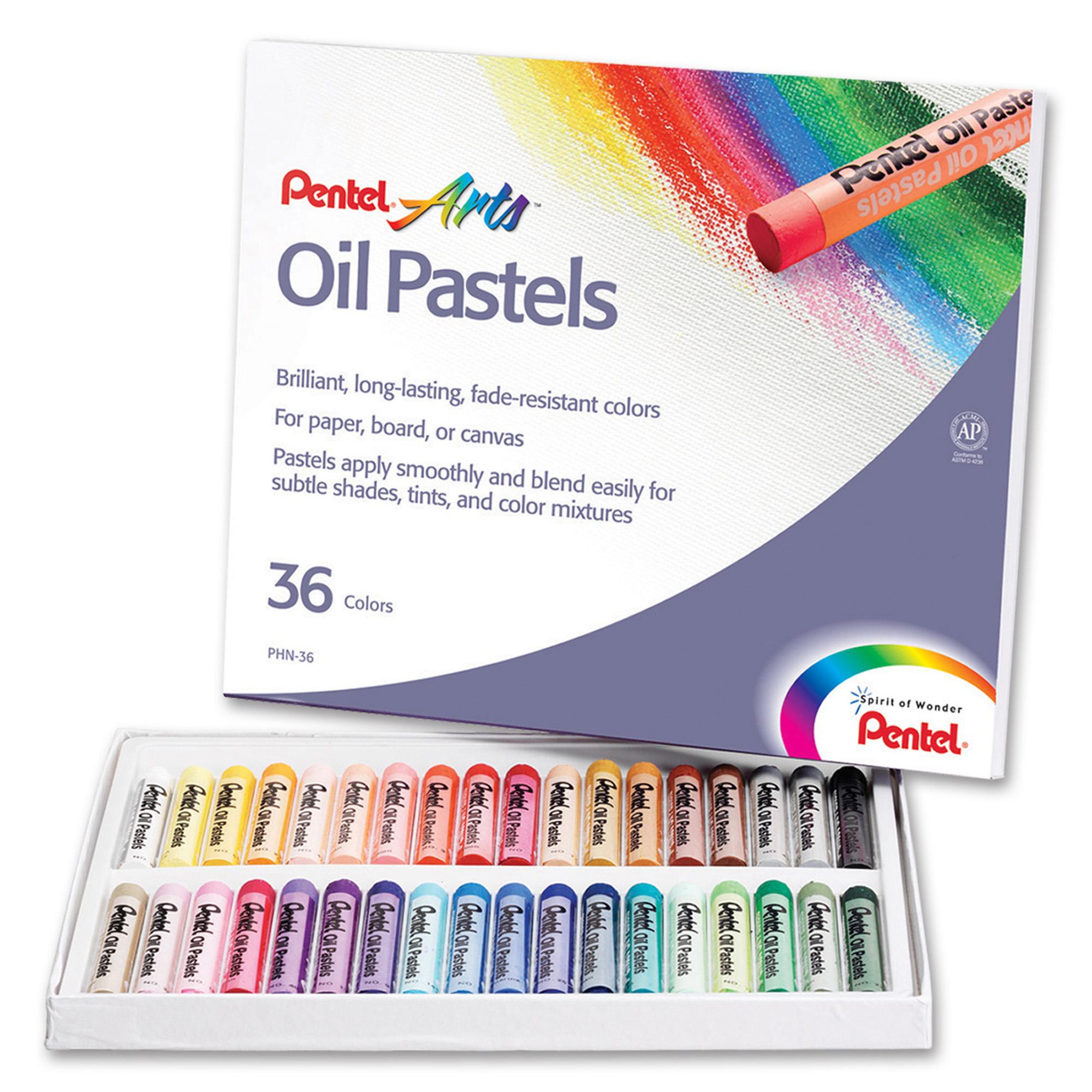 Pentel® Arts™ Oil Pastels, 36 Per Box, 6 Boxes
