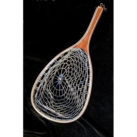 Ghost Net Wooden with Rubber Net - Fly Fishing, By Stone Creek (Net Stone)