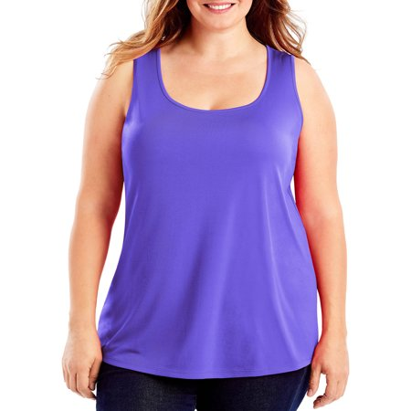 Just My Size Womens Plus Size Cool Dri Performance Scoop Neck Tank