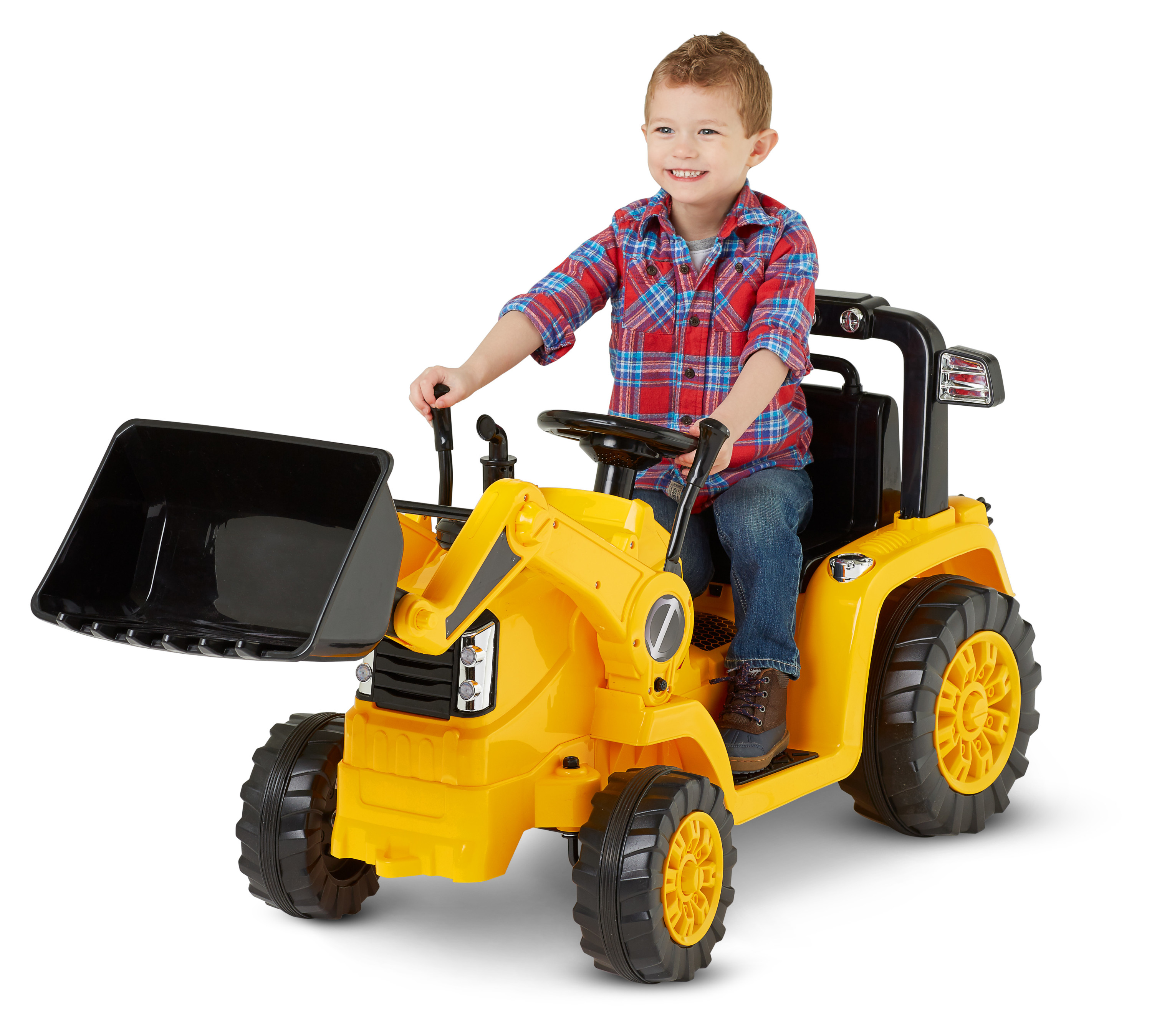 6V Battery Powered Kids Ride On Car Electric Excavator Digger Outdoor Play Toy