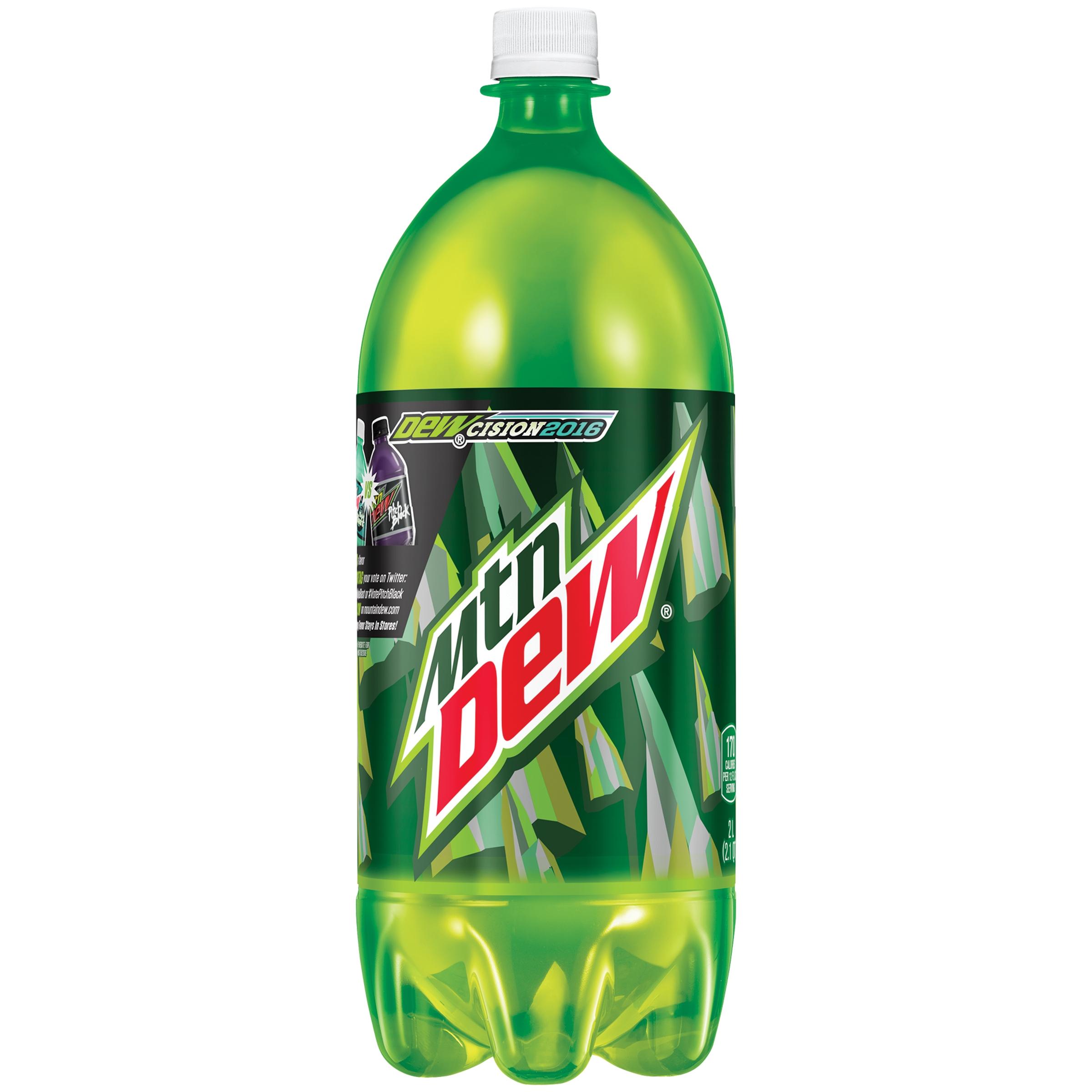 mtn dew soda 2l bottle walmart com