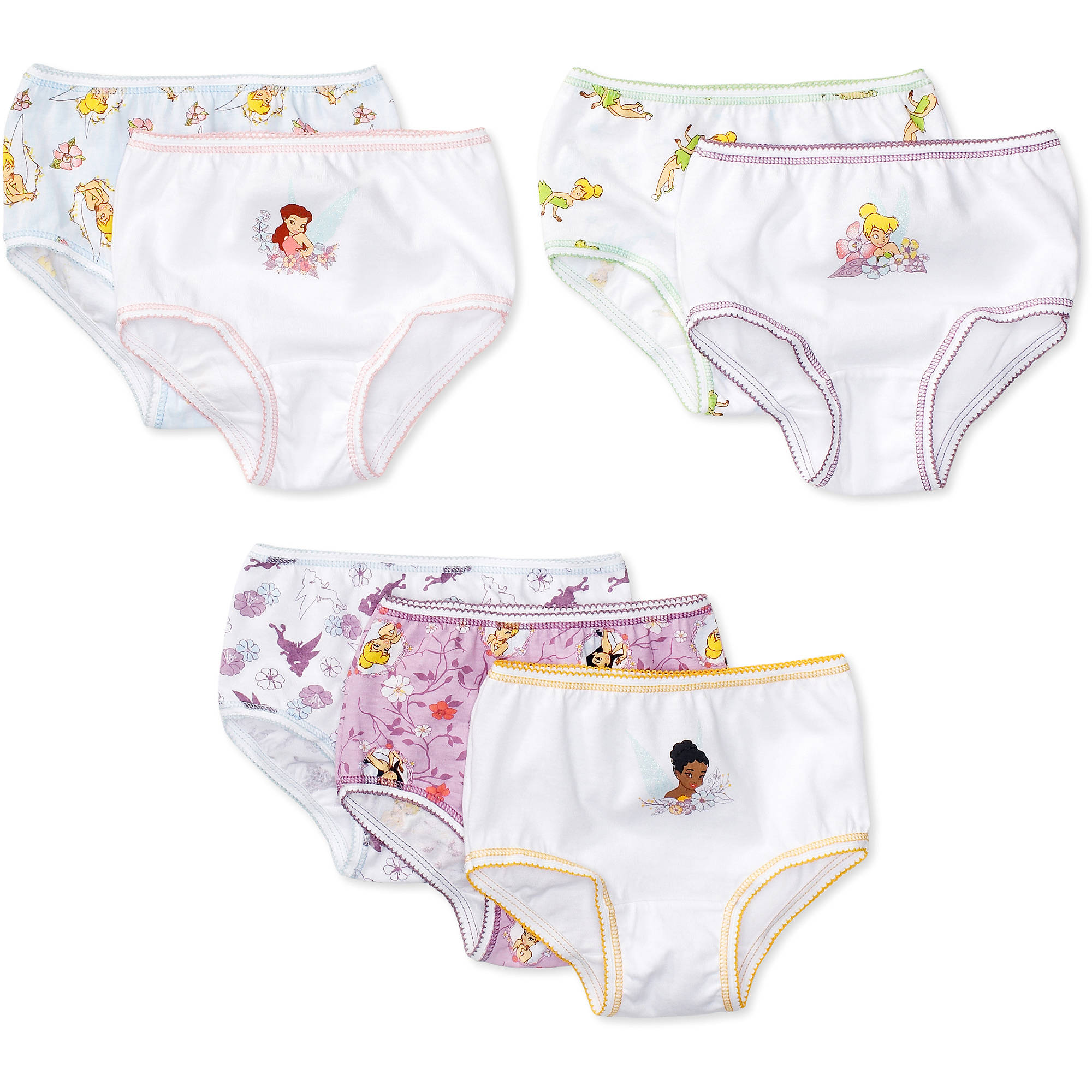 Disney Toddler Girl Tinker Bell Underwear, 7-Pack