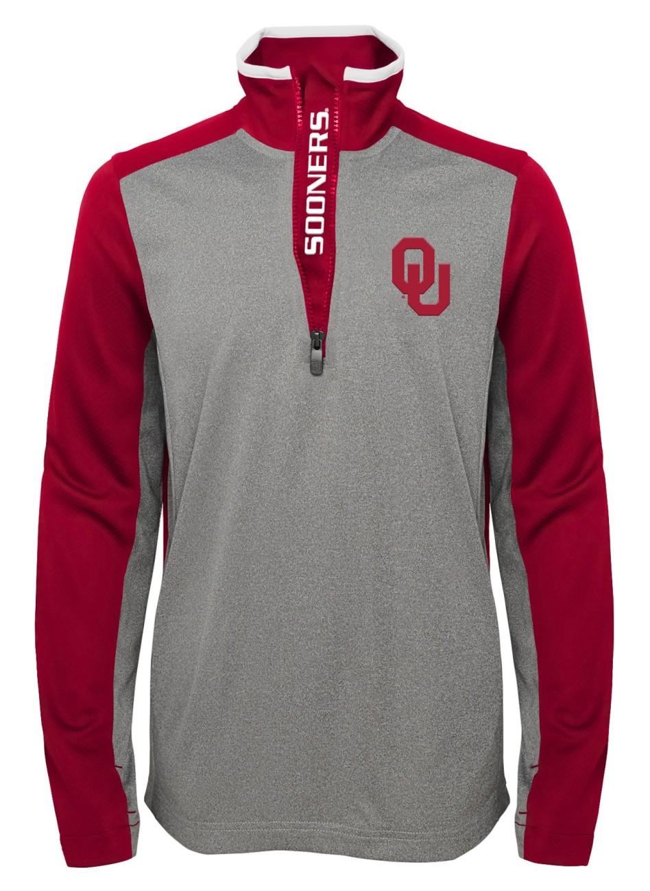 """Oklahoma Sooners NCAA """"Top Notch"""" Men's 1 4 Zip Mock Neck Jacket by Gen2"""
