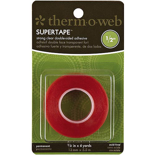 "Super Tape, Double-Sided, .5"" x 6yd"