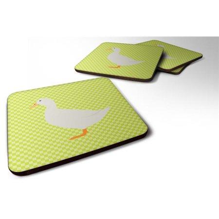 Carolines Treasures BB7686FC American Pekin Duck Green Foam Coaster, Set of 4 - image 1 de 1