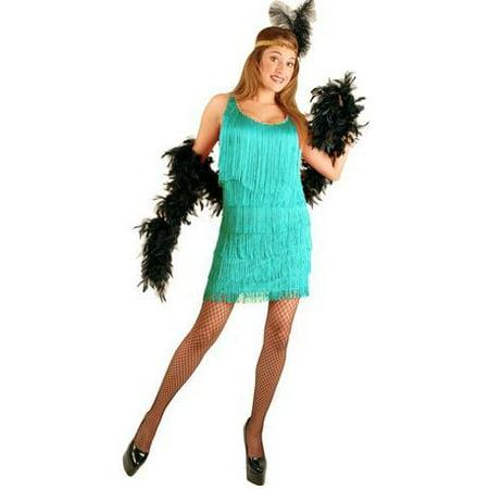 20s Aqua Fashion Flapper Dress Costume - image 1 de 1
