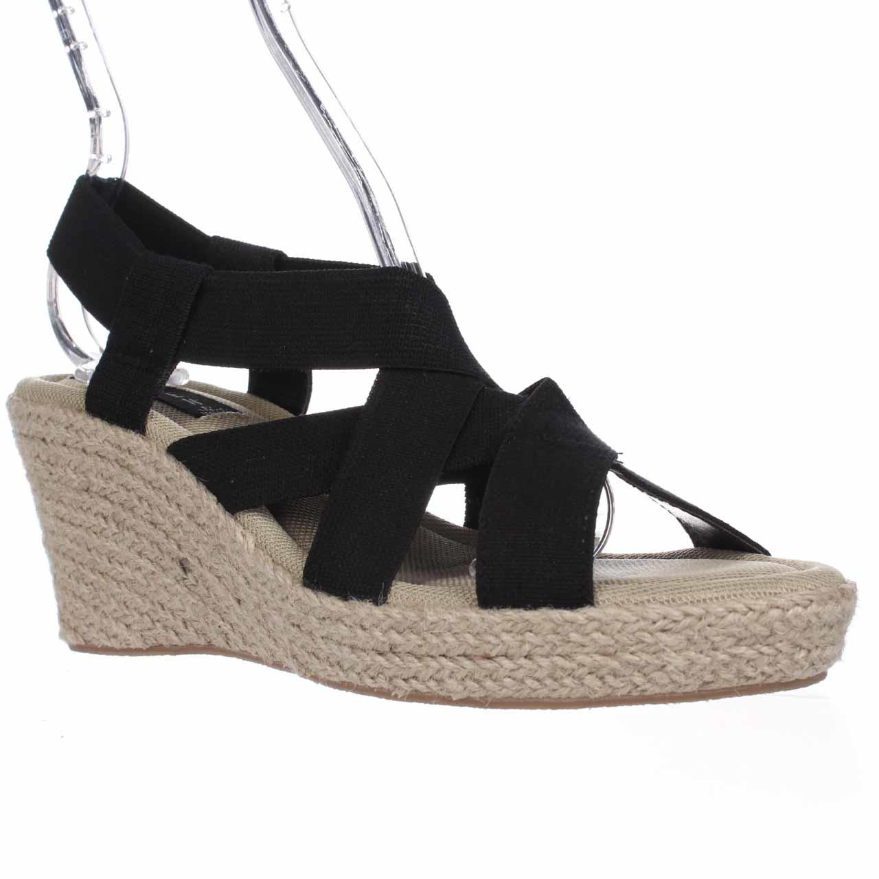 Womens STEVEN by Steve Madden Janenn Espadrille Wedge Sandals, Black