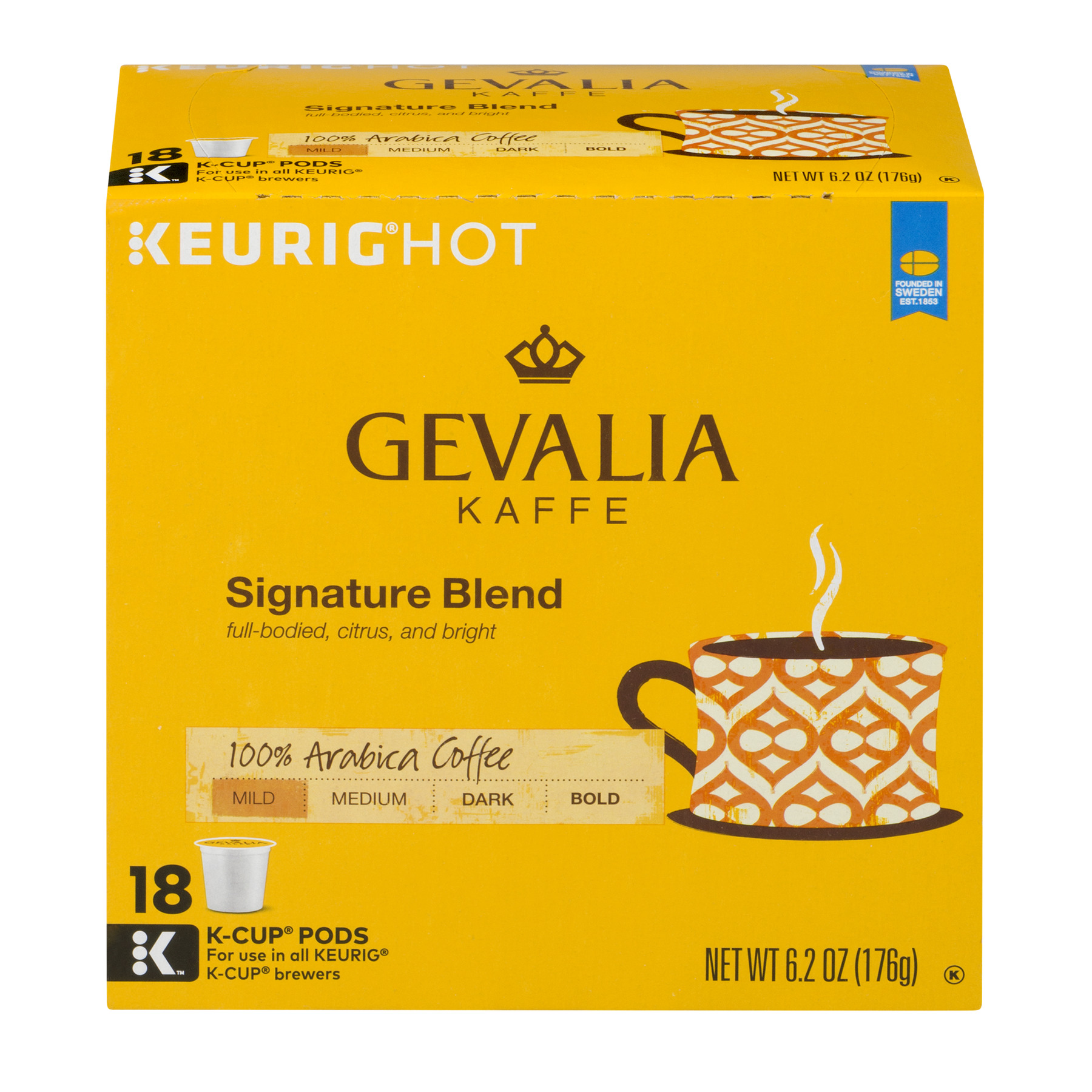 Gevalia Kaffe 100% Arabica Coffee Signature Blend Mild - 18 CT