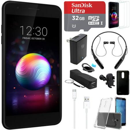 LG K30 16GB Smartphone (Unlocked) - LMX410ULMG AUSABK w/ 32GB Accessory  Bundle Includes, LG TONE Triumph Wireless Bluetooth Headset, 32GB microSDHC