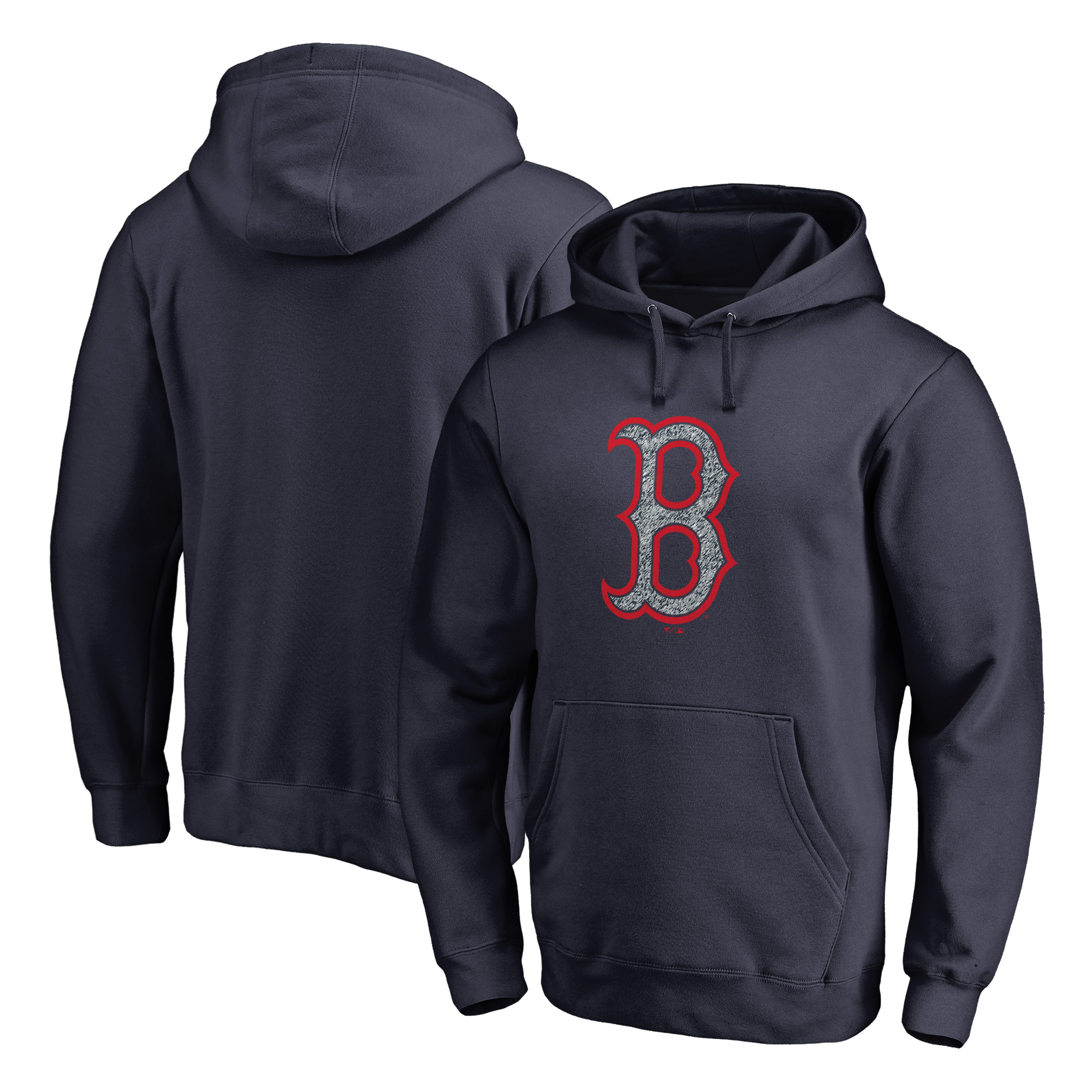 Boston Red Sox Fanatics Branded Static Logo Pullover Hoodie - Navy