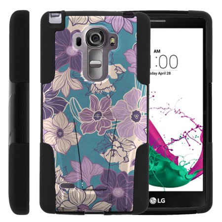 Lg G Vista 2 H740 Strike Impact Dual Layer Shock Absorbing Case With Built In Kickstand   5 Shades Of Purple