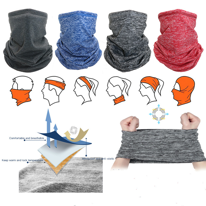 Thermal Neck Warmer Neck Gaiter Tube face Scarf Motorcycle Ear Face Mask