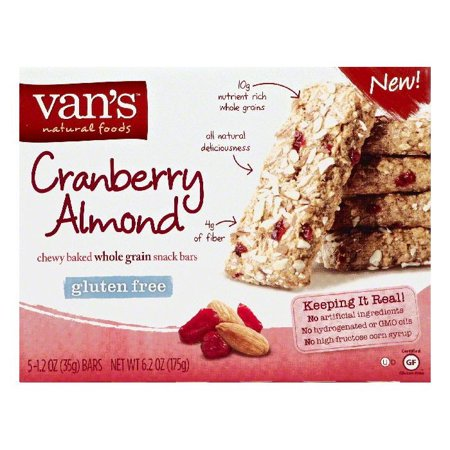 (Vans Cranberry Almond Whole Grain Chewy Baked Snack Bars, 5 ea (Pack of 6))