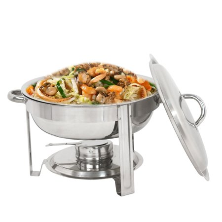 Round Chafer (Zeny Round Chafing Dish Chafer with Lid 5-QT, 5 quart Stainless Steel)