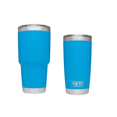 Yeti Rambler Vacuum Insulated Tumbler 20 oz + 30 oz Couple Cup Tahoe Blue