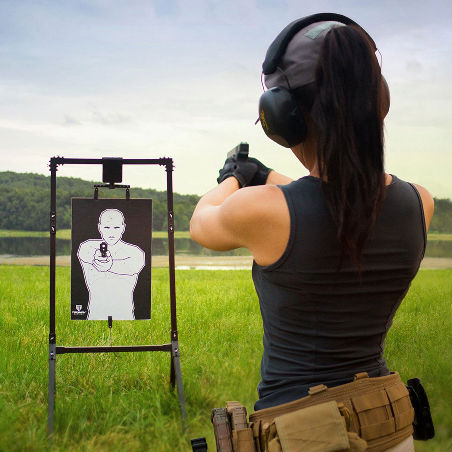 Pivotal Trainer Electronic Turning Target Systems Shooting Target by Triumph Systems