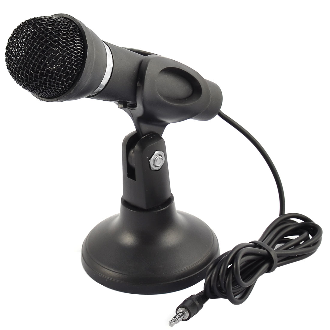 3.5mm Plug Stereo Condenser Microphone Stand for Laptop Digital Voice Recorder