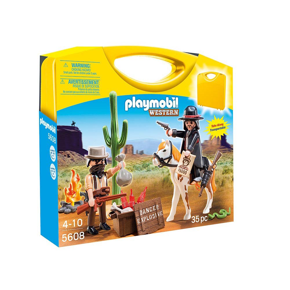 Playmobil Western Carrying Case Playset