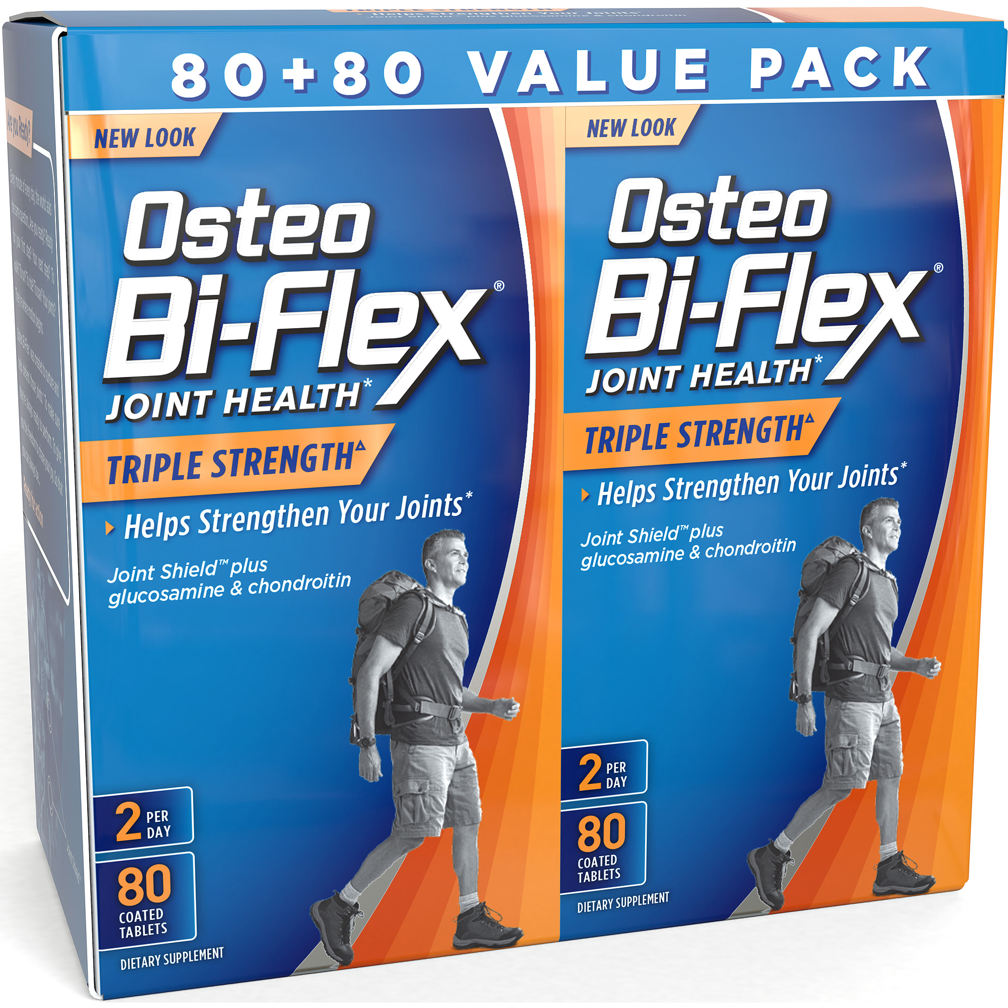 Osteo Bi-Flex Glucosamine Chondroitin MSM With 5-Loxin Advanced Supplement Tablets, 80 Count, 2 pack