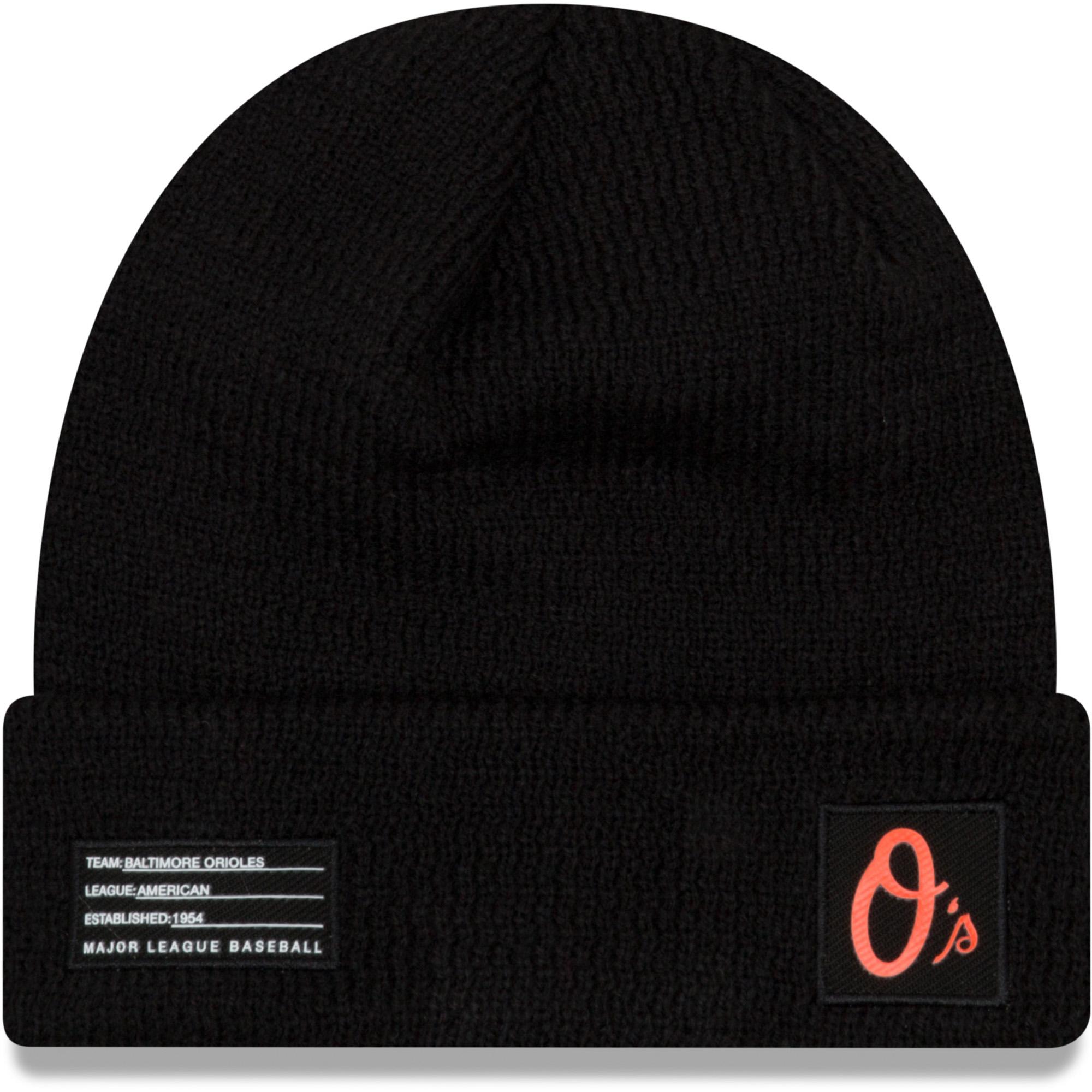 Baltimore Orioles New Era Youth On-Field Sport Cuffed Knit Hat - Black - OSFA
