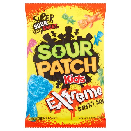 Sour Patch Kids Extreme Soft & Chewy Candies, 7.2 (Most Extreme Sour Candy)