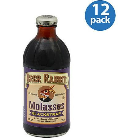 Brer Rabbit Blackstrap Molasses, 12 oz, (Pack of 12) Black Strap Molasses Iron