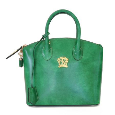 Pratesi Womens Italian Leather Versilia Radica Small Handbag in Cow Leather But I Italian Handbag