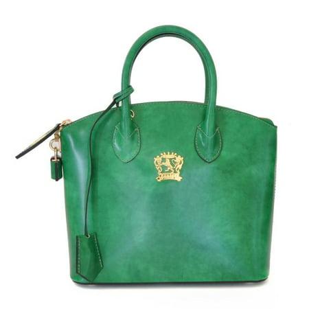 Pratesi Womens Italian Leather Versilia Radica Small Handbag in Cow