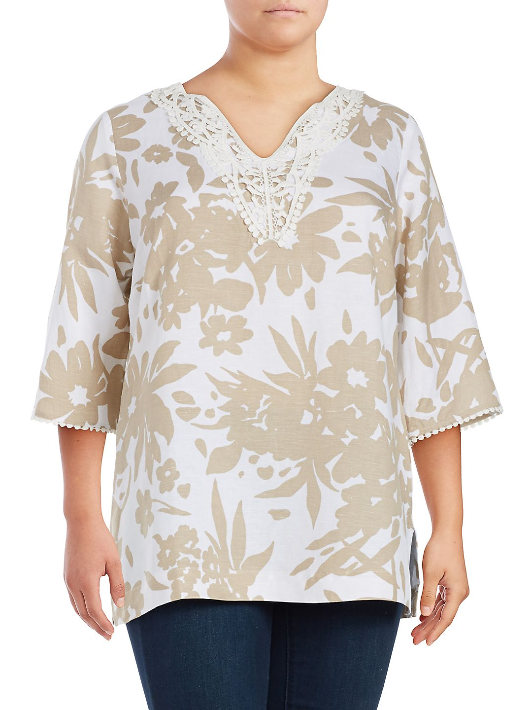 Plus Floral Printed Tunic