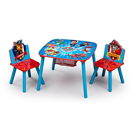 Nick Jr. PAW Patrol Wood Kids Storage Table and Chairs Set by Delta Children](Art Tables For Toddlers)