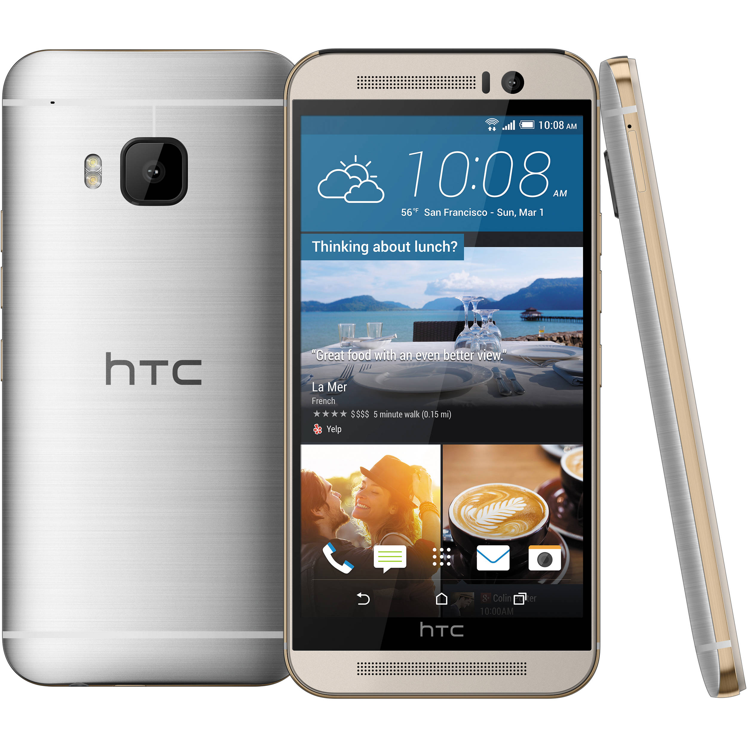 HTC One M9 Gold on Silver 32GB - Verizon and GSM Unlocked (Refurbished)