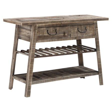 Ridge Gathering Table Set - Signature Design by Ashley Camp Ridge 44 in. Single Drawer Sofa Table