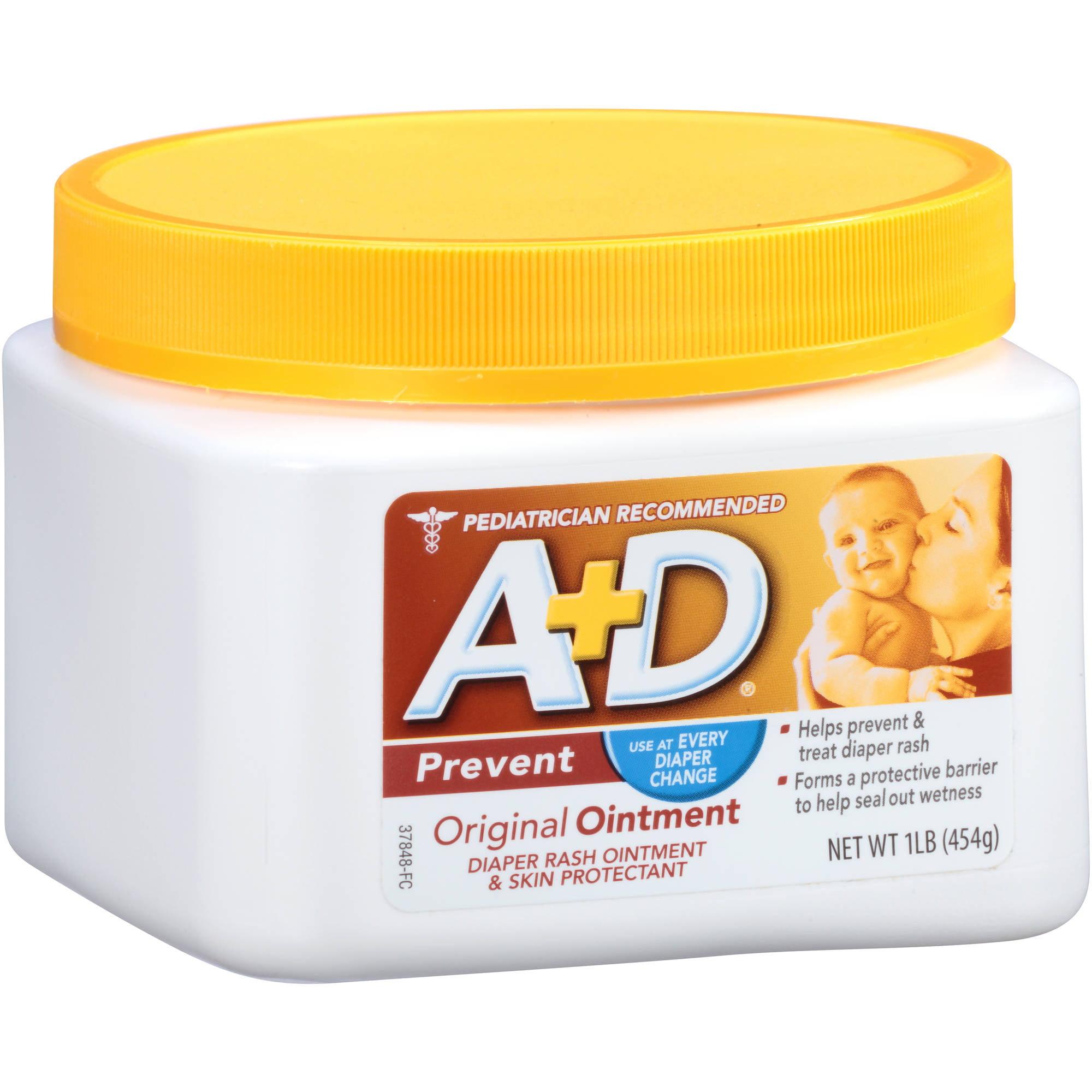 A+D Prevent Original Ointment Diaper Rash Ointment & Skin Protectant, 1 lb