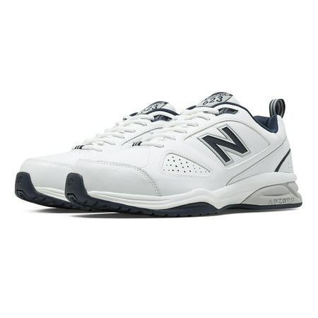 New Balance Men's 623v3 Shoes White with Navy (New Balance Track Shoes)