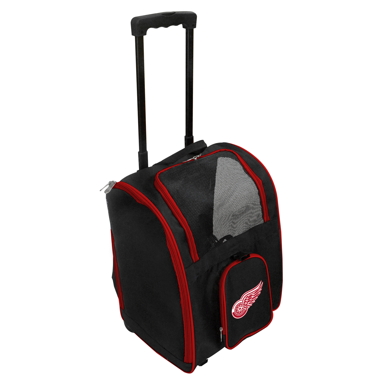NHL Detroit Red Wings Premium Pet Carrier with Wheels