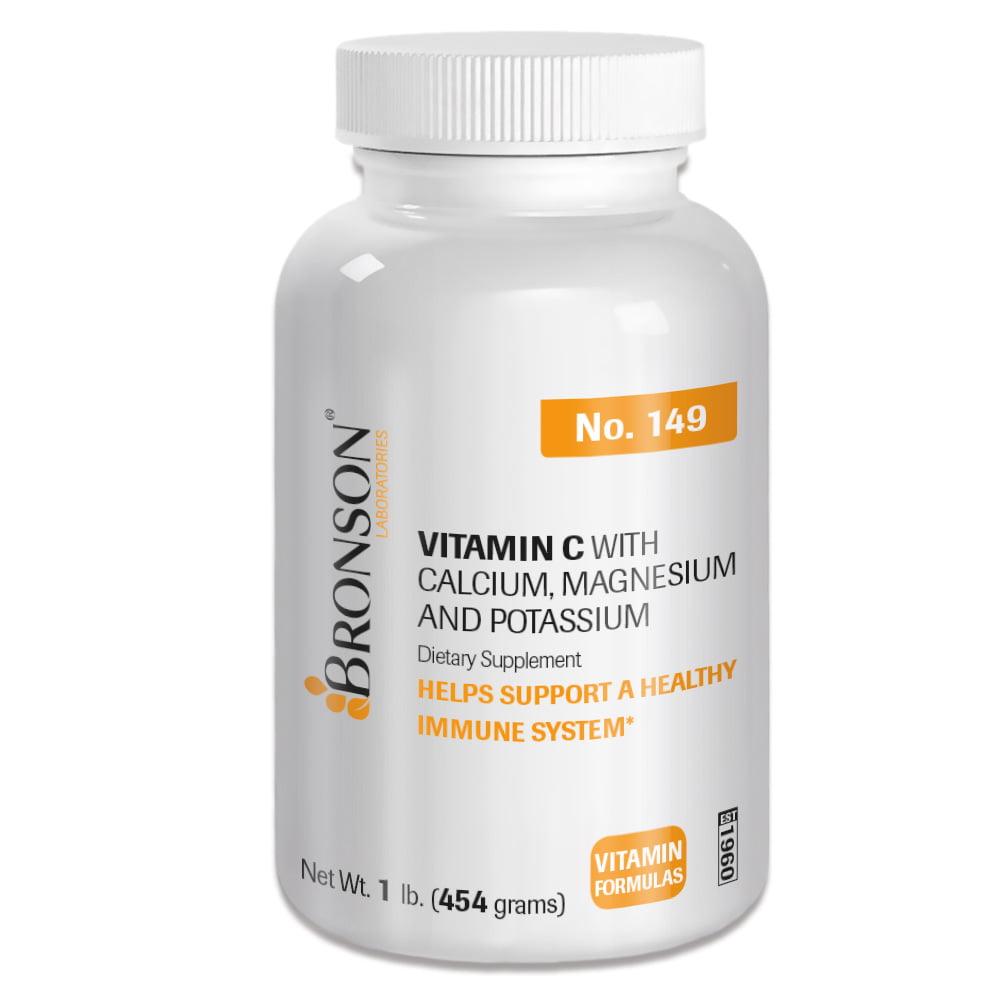 Bronson Vitamin C Powder with Calcium, Magnesium, and Potassium, Antioxidant Immune Support, 1lb